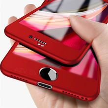 Tam kapak telefon kılıfı için iPhone SE 2020 11 Pro Max 360 koruyucu kılıf iPhone 11 XS Max XR X 8 7 6S 6 artı kapak ile cam