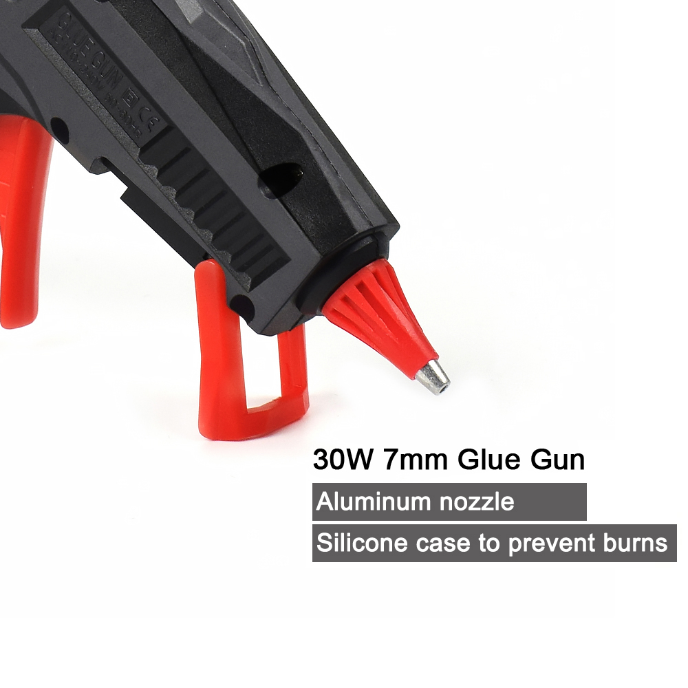 Image 4 - NEWACALOX EU/US 30W High Temp Heater 110V 240V Mini Hot Melt Glue Gun with 20pc 7mm Glue Sticks DIY Repair Heat Tool Mini Guns-in Glue Guns from Tools on