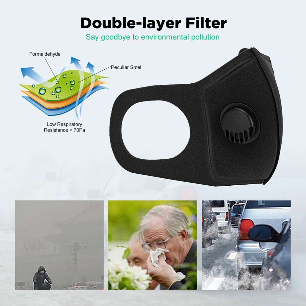 Unisex Adult Children Mouth Masks PM2.5 Dustproof Face Mask Outdoor Mask Travel Protection Anti Smog Particulate Mask Reusable 1