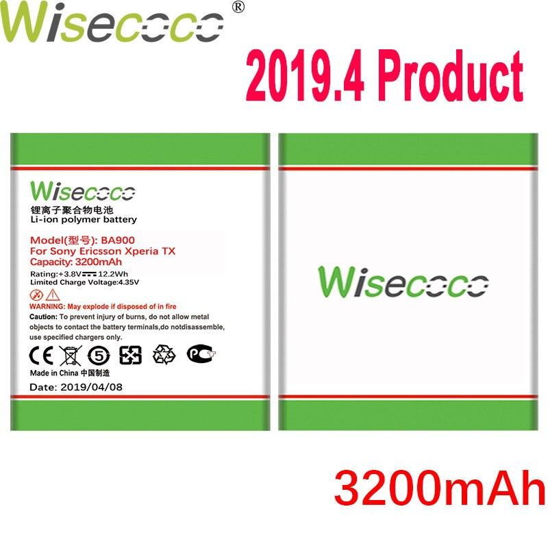 Wisecoco 3200mAh BA900 batterie pour Sony Ericsson Xperia TX LT29i/J ST26i/L S36h C2105 E1 J L M C2104 C1904 C1905 téléphone portable