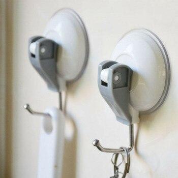 Ganchos domésticos 2/3/5KG carga útil máxima poderosa succión de vacío taza ganchos cocina cuarto de baño toalla fuerte ventosa ganchos de pared adhesivos