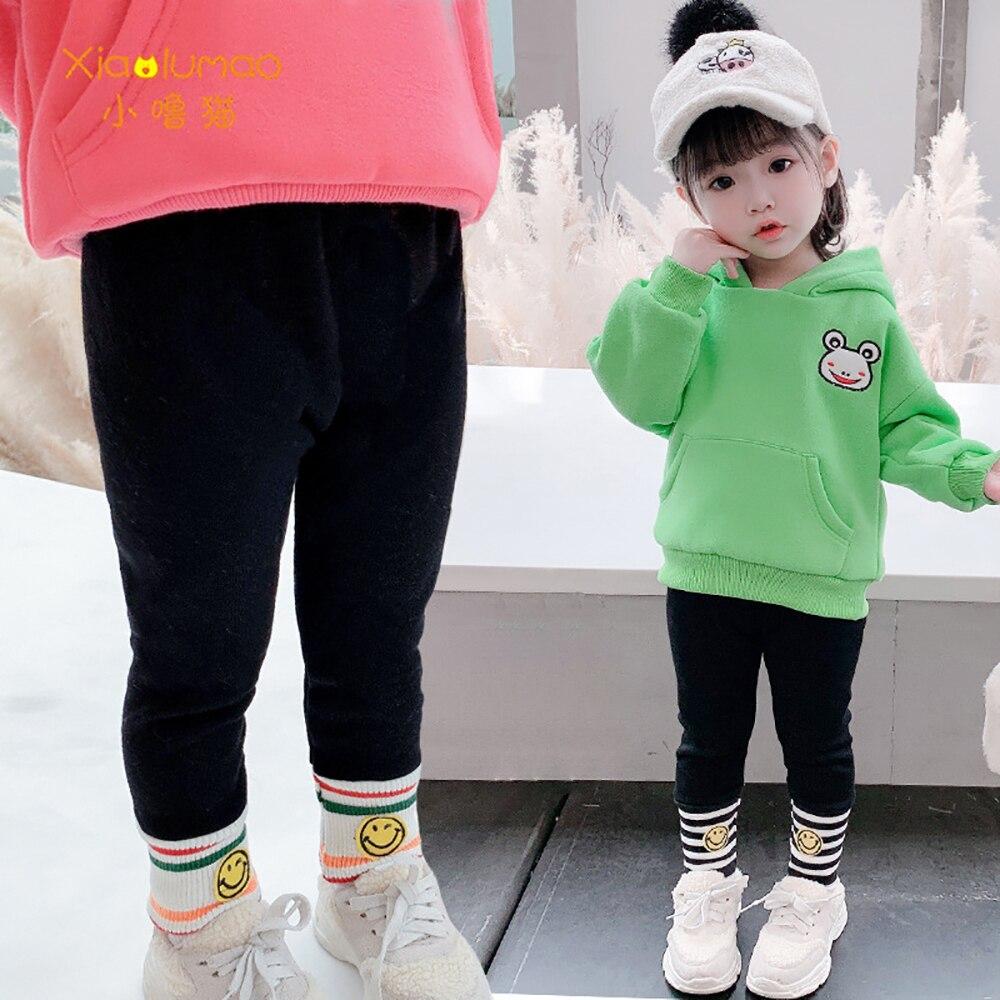Детские леггинсы xiaolumao для девочек модные бархатные штаны