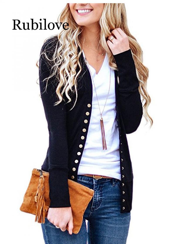 2020 Long Sweater Women Buttons Knitted Cardigan Long Sleeve Ribbed Neckline Knitwear Coat Autumn Winter Fashion Jumper