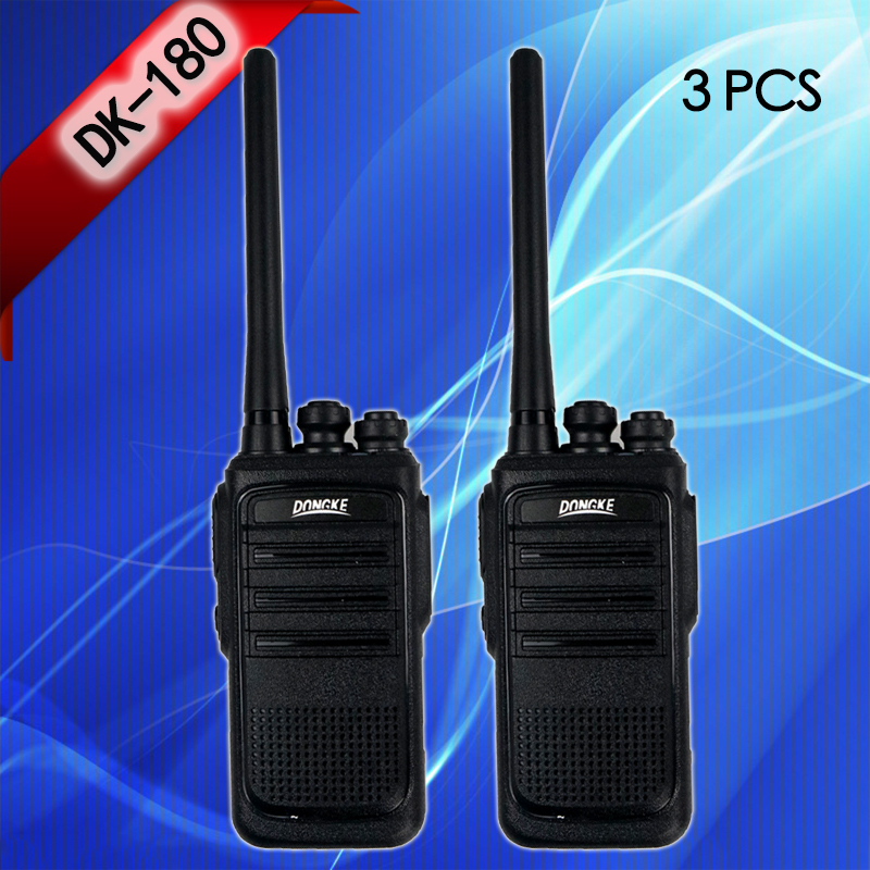 3PCS DONGKE Walkie Talkie Two-way Radio Portable UHF 400-470MHz 16CH Radio Comunicador Transmitter Transceiver Talkie-walkie