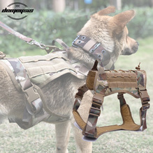 Military Tactical Dog Molle Hunting Dog Vest Dog Harness Vest for Walking Hiking Hunting Tactical Military walking the dog