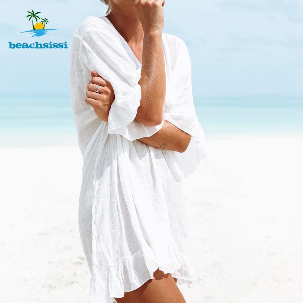 Beachsissi Colorful Knitted Cover Up Bikini Women Swimsuit Lace-up Kimono Beach Dress Bathing Suit Beachwear Tunic Robe 9