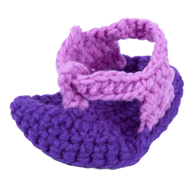 Baby Girl Handmade Knit Soft Sole Prewalker Shoes Herringbone Shoes
