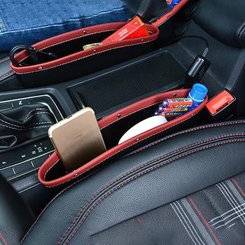 Organizator samochodu przechowywanie samochodu szczelina w siedzeniu kieszeń szczelinowa wielofunkcyjne siedzenie kierowcy Catcher uchwyt na kubek akcesoria samochodowe PU Leather tanie i dobre opinie CN (pochodzenie) Pudełko torba do szczeliny w fotelu