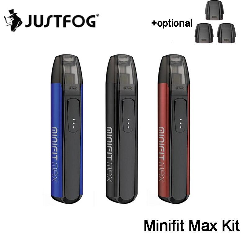 Original Justfog Minifit Max Pod Kit 650mAh Battery Pod Vape And 1.5ml Tank Electronic Cigarette Vape Pen VS Minifit Kit