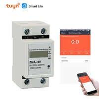 Smart Leben/tuya APP einphasig din-schiene WIFI Smart Energy Meter Power Verbrauch kWh Meter wattmeter 220 V, 110V AC 50Hz/60hz