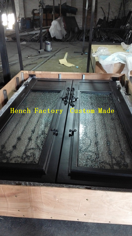 Shanghai Hench Brand China Factory 100% Custom Made Sale Australia Decorative Interior Doors With Iron