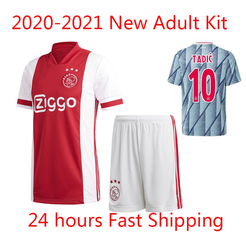 20 21 TOP NEW arrived ajaxed 홈 어웨이 축구 유니폼 성인 세트 2020 2021 HUNTELAAR TADIC Jerseys NERES BLIND foot jerseys