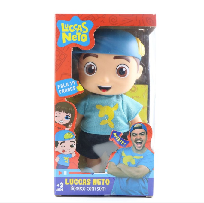 25cm Luccas Neto Doll Action Figure Toys Vinyl Model Doll With Sound Children Christmas Gift