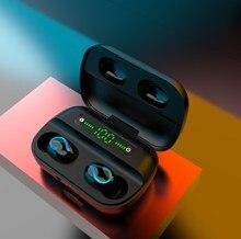 Display digital tws 5.0 bluetooth fone de ouvido sem fio fones de ouvido in-ear esportes à prova dwaterproof água fone de ouvido para correr ej004h