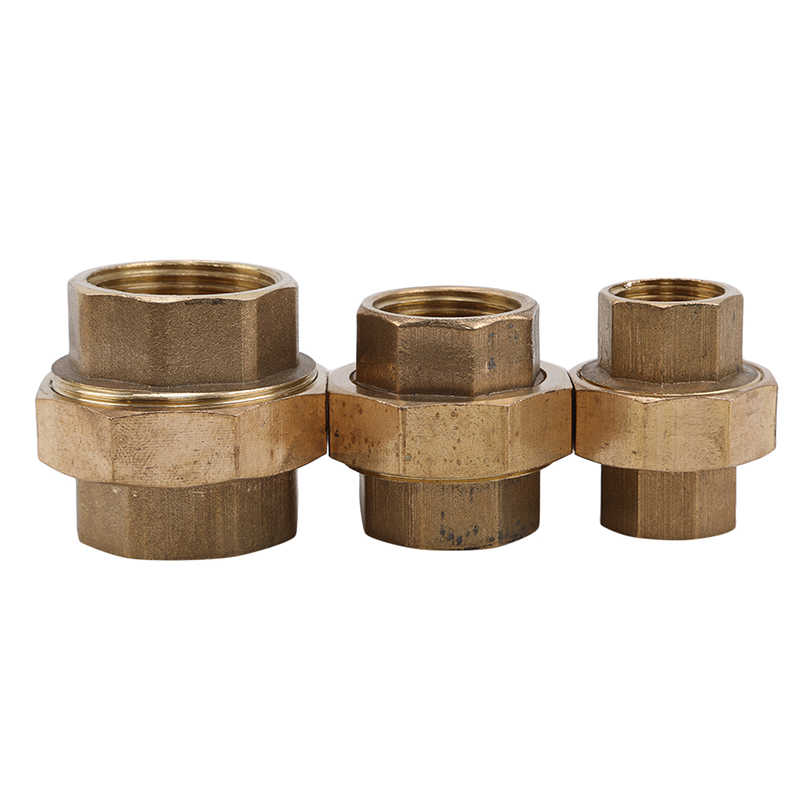 Pure Copper Thickened Female Union Live Wire Joint 4 Points/6 Points/1Inch Brass Pipe Hex Nipple Fitting Quick Adapter