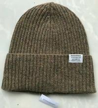 גברים נשים צמר מרינו כפת כובע חורף צמר מרינו שרוול מצולעים לסרוג כפת כובע תרמית כובע חם לסרוג ספורט חיצוני חם כובע
