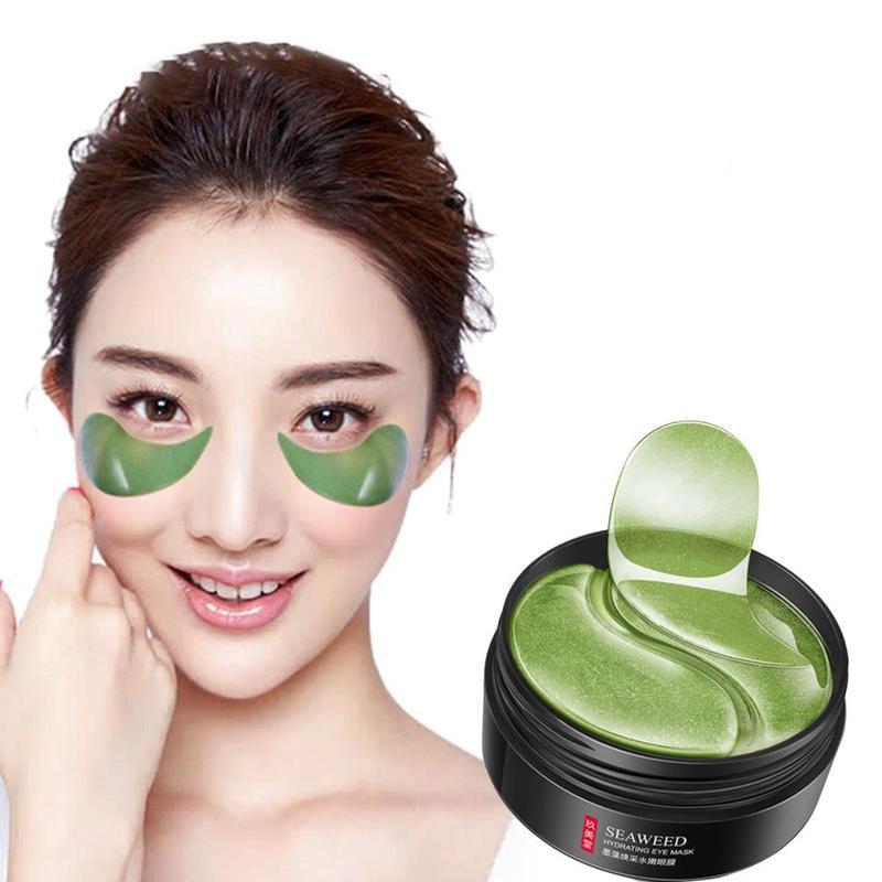 60pcs Seaweed Eye Mask Nourishing Moisturizing Hydration Eye Patches Anti-puffiness Remove Dark Dircles Wrinkle Eye Skin Care