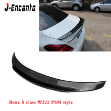 For Mercedes Benz S class W222 S300 S320 S400 PSM style Spoiler Carbon Fiber Material wings CLASS