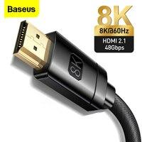 Baseus 8K compatibile HDMI con cavo HD 2.1 cavo digitale 48Gbps per proiettori Monitor TV portatile PS5 cavo Video 8k/60Hz 4K/120Hz