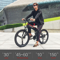 Power Assist Electric Bicycle 26 Inch Folding Electric Bike E Bike Conjoined Rim Scooter 48V 350W Motor