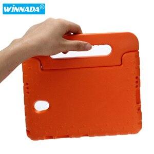 Image 3 - Чехол для Samsung Galaxy Tab S 8,4/T700 /T705, ударопрочный Ручной Чехол из ЭВА с полным покрытием корпуса, детский силиконовый чехол