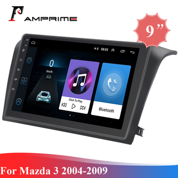 AMPrime Android Radio Stereo 2 din 9 2.5D Car Multimedia For Mazda 3 2004-2009 WIFI BT 1G 32G Quad Core Auto Audio Radio Player image
