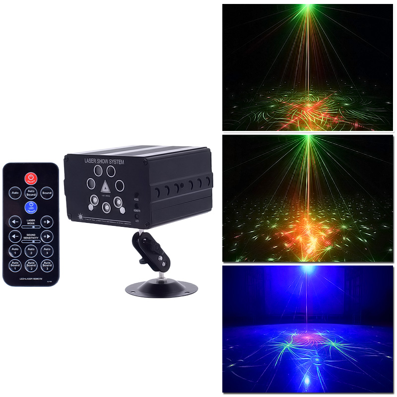 WUZSTAR Disco LED DJ Laser Lights 7 Holes 120 Patterns Party Lighting Effect For Stage Decoration RGB Colorful Light For Wedding