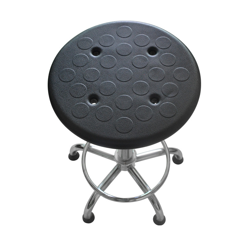 Dongguan Wholesale Room Anti-static Chair School Laboratory Adjustable Leather Anti-static Round Stool Manufacturers