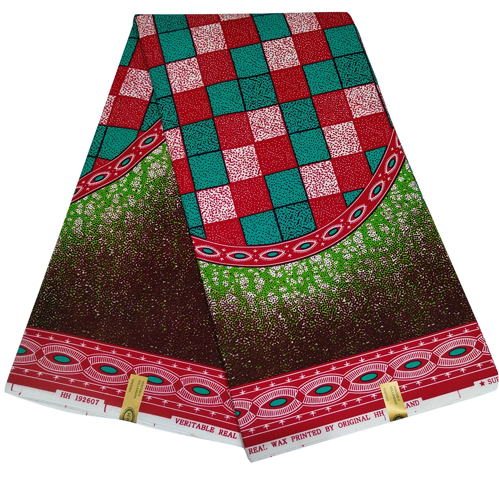 Popular Africa Ankara Fabric Golden Polyester Real Dutch Best Quality African Material 6yards Z625
