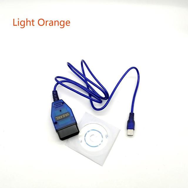Free Shipping CH340 USB Cable KKL VAG-COM 409.1 OBD2 OBDII Diagnostic Scanner For VW Audi Seat Skoda