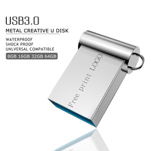 цены Metal Pen Drive 64gb Memoria Usb Flash Drive 8gb 4gb Flash Usb 3.0 16gb 32gb Pendrive 128gb 256gb Cle Usb Stick Free Print Logo