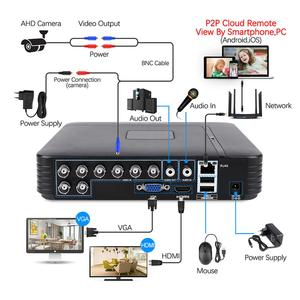 Image 2 - Techage 8CH 1080N AHD DVR Kit 720P CCTV System 1MP IR Night Vision Indoor Outdoor Camera Video Home Security Surveillance Set