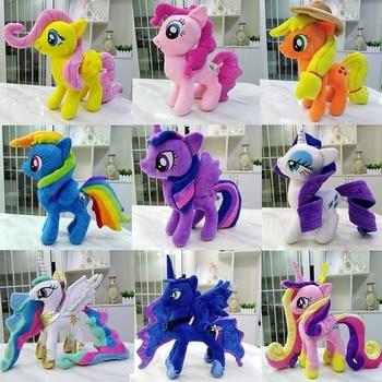 Hasbro My Little Pony Plush Doll Toys PP Cotton Stuffed Soft Horse Unicorn Pegasus Twilight Sparkle Rainbow Dash Applejack my little pony 22cm toy stuffed pony toy doll pinkie pie rainbow dash movie