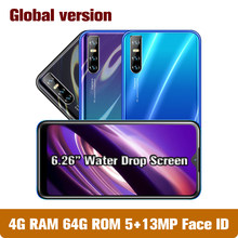 A50s tela gota smartphones mtk 4g ram 64g rom quad core 13mp celulares 6.26
