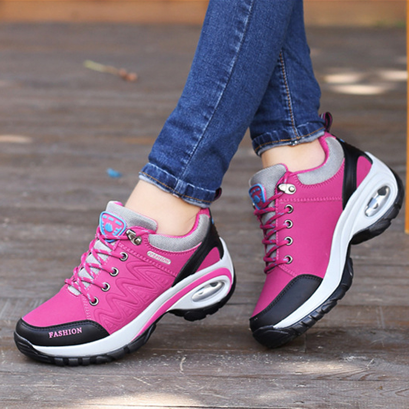 New 2019 spring women casual shoes lace-up women sneakers breathable non-slip women platform shoes zapatillas de moda 2019 hombre