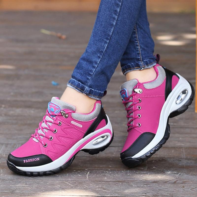 New 2019 Sutumn Winter Women Casual Shoes Lace-up Women Sneakers Breathable Non-slip Women Platform Shoes
