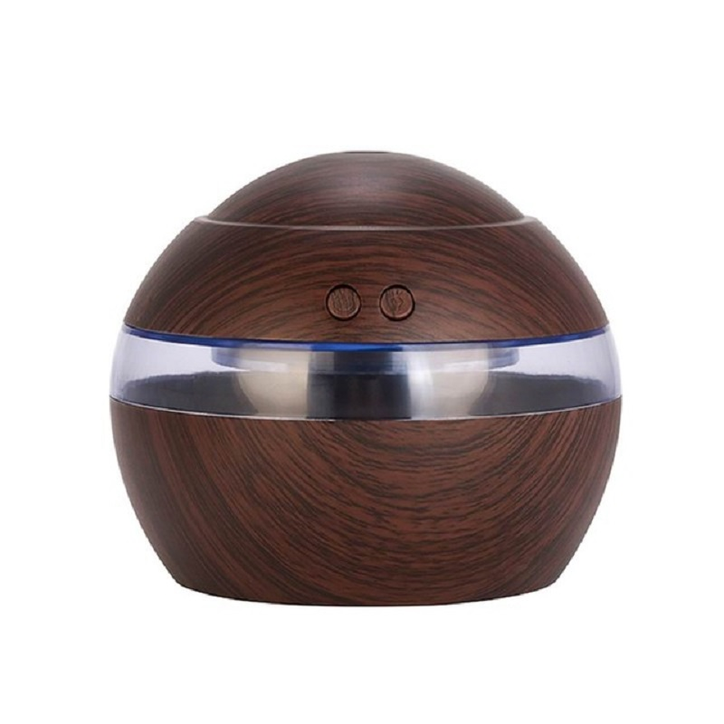 KBAYBO 130ml Mini USB Air Humidifier Ultrasonic Essential Oil Diffuser Add Moisture To The Air With Light For Bedroom Office