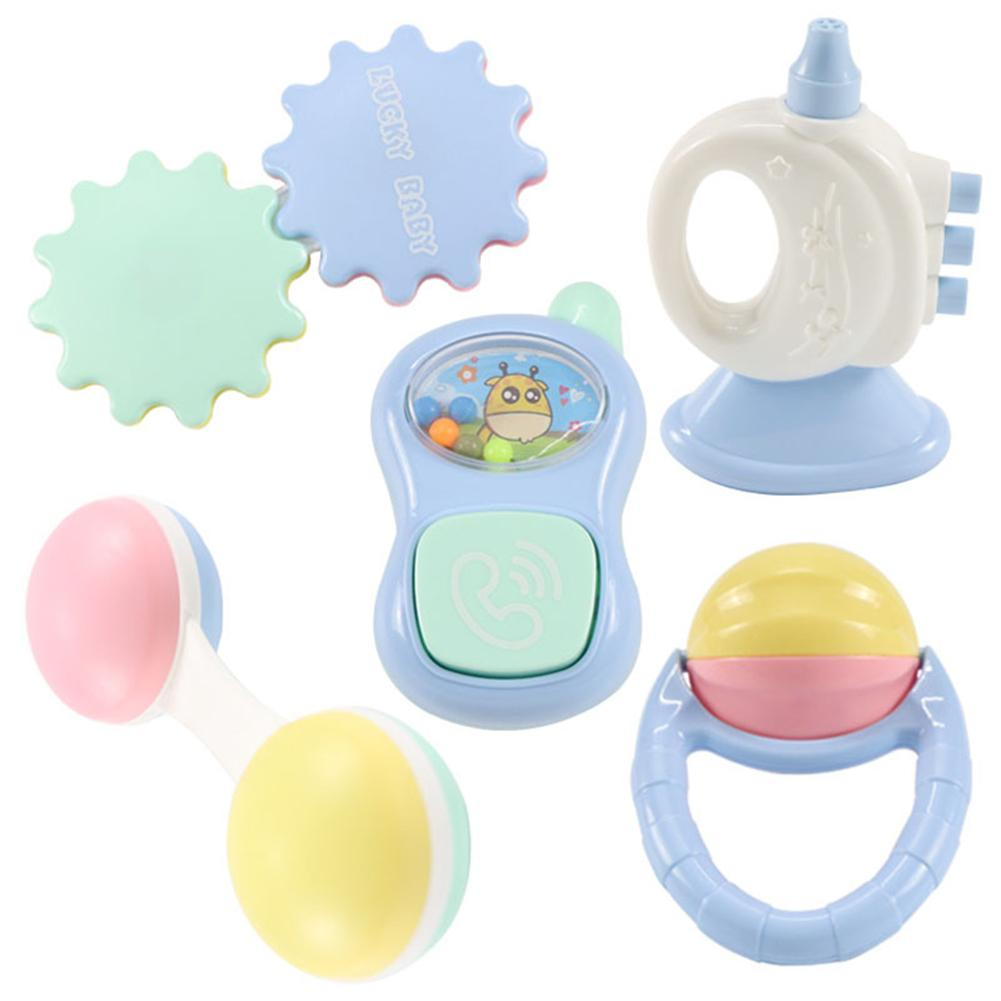 Baby musical toys rattles clocks shake dumbells early development toys FO