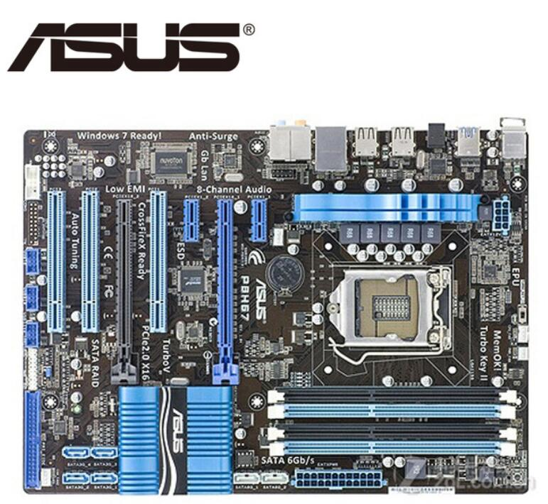 ASUS P8H67 carte mère originale pour DDR3 LGA 1155 USB2.0 USB3.0 cartes 32GB P67 cartes mères de bureau utilisées