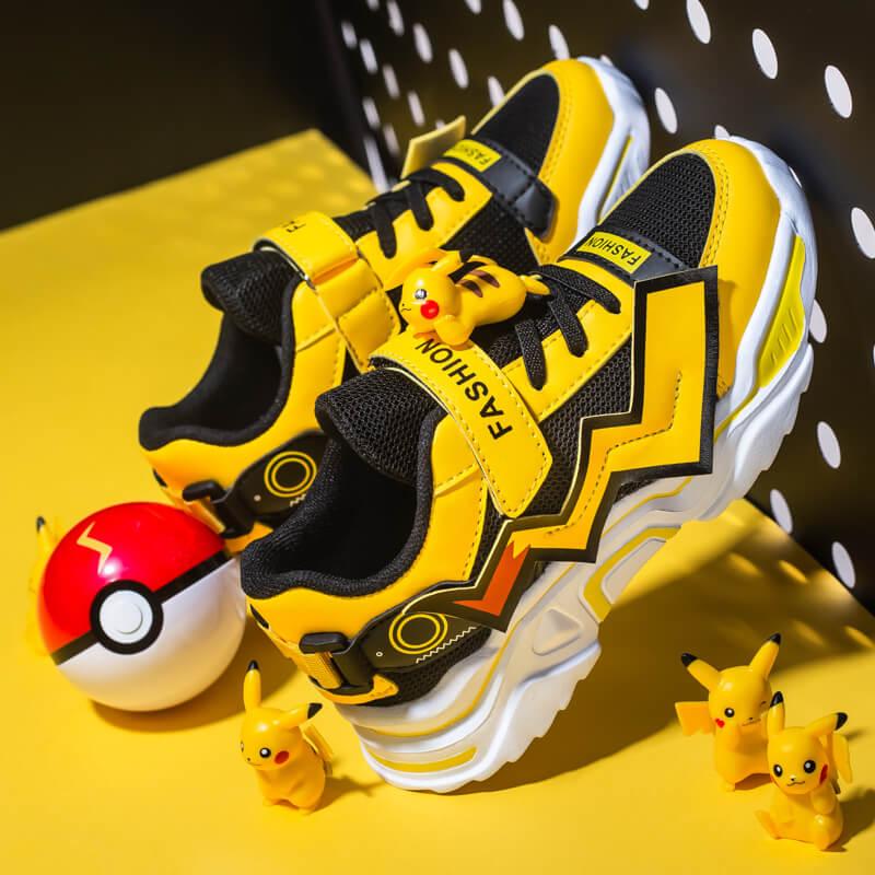 mwy criancas moda pikachu sapatos casuais quatro estacoes crianca tenis respiravel malha sola macia tendencia meninos