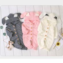 Płaszcz niemowlęcy noworodek ubrania jesień śliczne chłopięce kombinezon Romper dziewczynek ubrania dzianiny kombinezony kurtka dla dzieci dla niemowląt odzież tanie tanio KEAIYOUHUO Moda COTTON Poliester baby coat Pasuje prawda na wymiar weź swój normalny rozmiar Czesankowej Unisex Kurtki