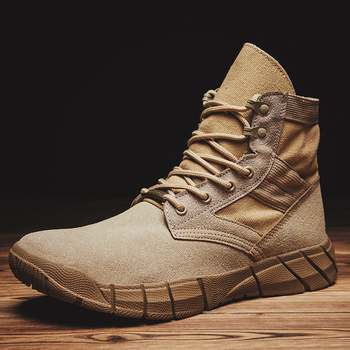 2019 New  Military Men Boots Combat Army Ankle Boots Autumn Winter Outdoor Trekking Shoes Big Size Desert Tactical Shoes for Men ultralight men army boots military shoes combat tactical ankle boots for men desert jungle boots outdoor shoes size 35 46