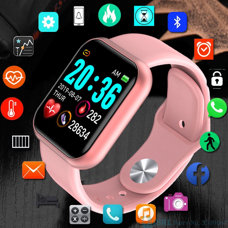 Fashion Square Smartwatch Women Waterproof Sport Watch Electronic Ladies Wrist Watch For Andriod Ios Female Smart Watch Clock