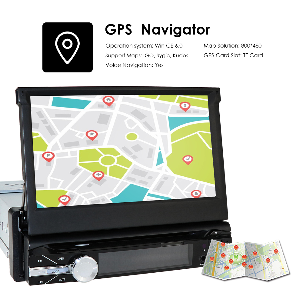Cámara gratis 1 din radio reproductor de dvd para coche navegador gps grabadora de cinta autoradio cassette player radio para coche gps multimedia dab bt - 5
