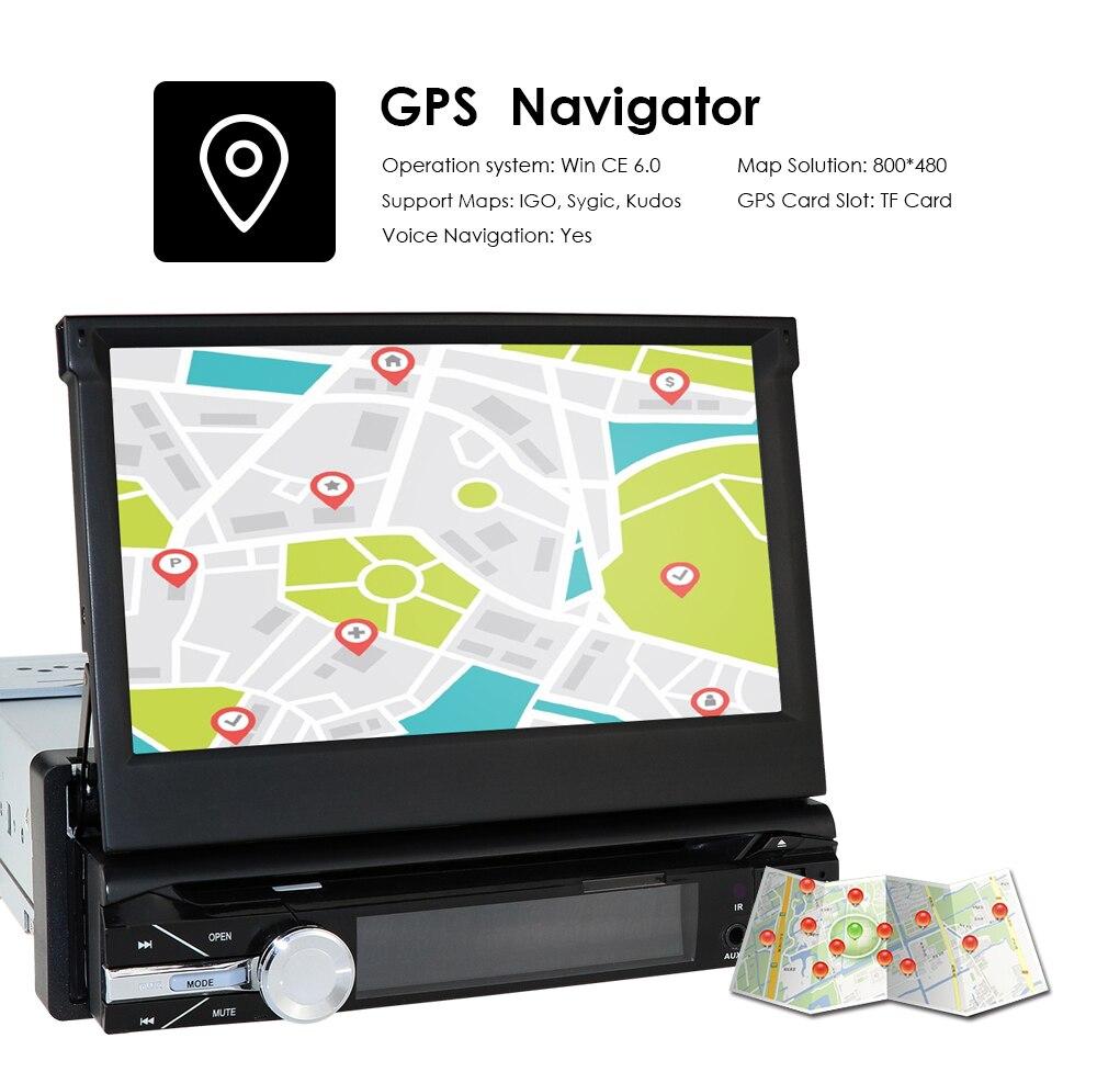Câmera livre um 1 din rádio do carro dvd player gps navegador gravador de fita autoradio cassete player rádio do carro gps multimídia dab bt - 5