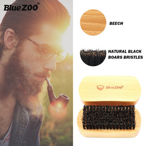 Image 3 - New 3Pcs/lot Natural Beech Styling Tools Comb Beard Shaping Tool Styling Template With Small Scissors Beard Care Grooming Kit