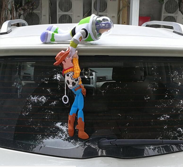 Historia Sherif Woody Buzz, Mario Bros, Mario Lightyear coche juguetes de peluche Superman Spiderman fuera juguete colgante accesorios de Auto decoración del coche Nuevos accesorios para casa de muñecas DIY para la familia juguetes con muebles en miniatura garaje montar Villa para muñecas casa juguetes para niñas regalo de cumpleaños