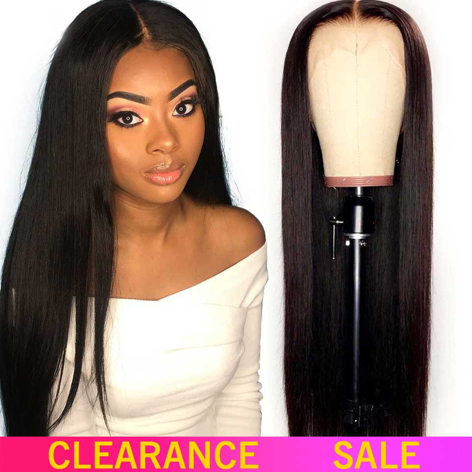 13x4 Lace Front Human Hair Wigs 180 Density Free Part Brazilian Straight Lace Front Wigs With Baby Hair For Black Women Non-Remy