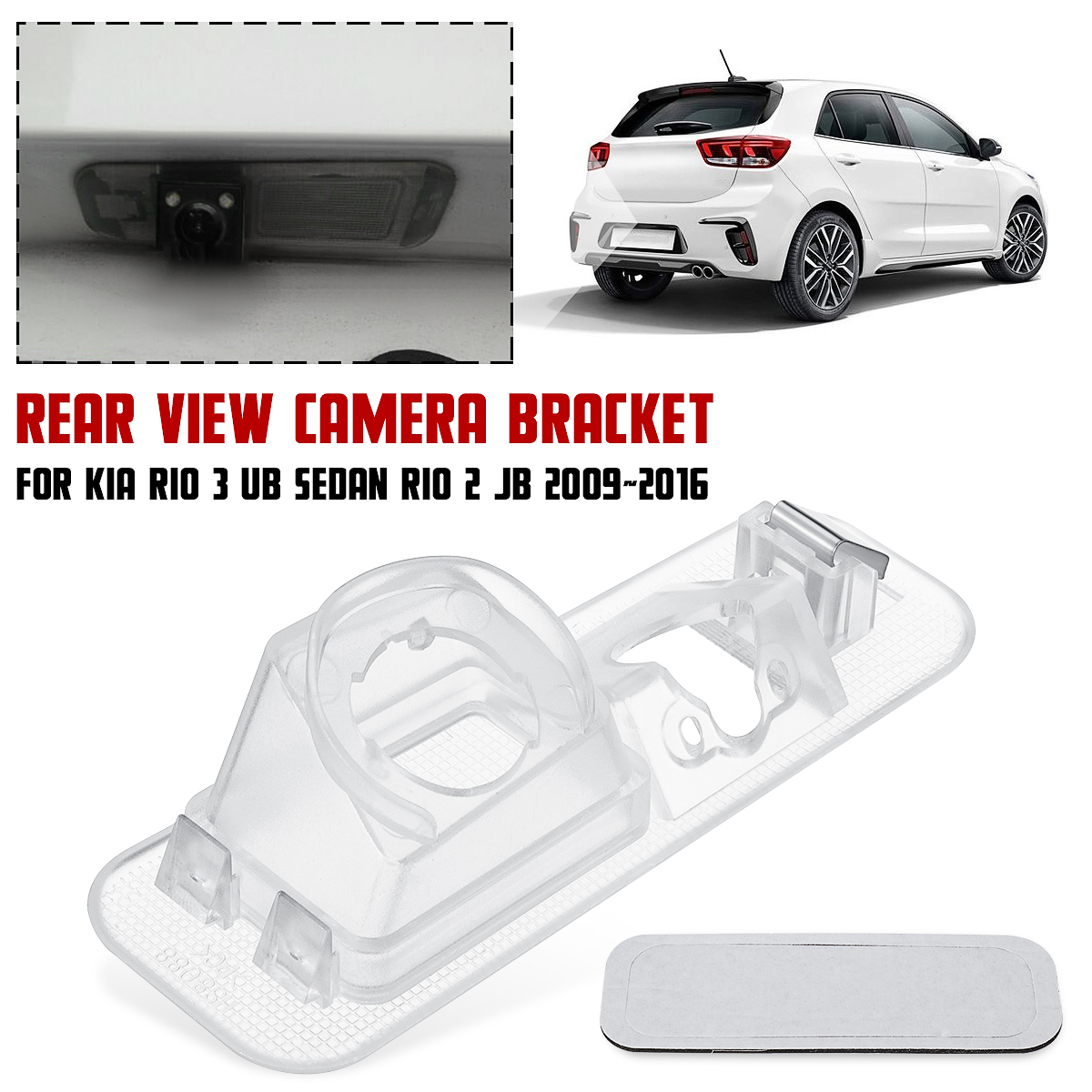 Car Parking Rear View Camera Bracket License Plate Cover Case Housing For Kia Rio 3 UB Sedan Rio 2 JB 2009 2010 2011 2012 - 2016