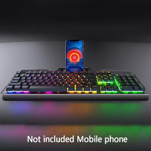 Image 4 - LED Backlight Portable Computer Game Home Universal Office Work For Laptop Gaming Keyboard Mouse Set Durable PC USB Wired